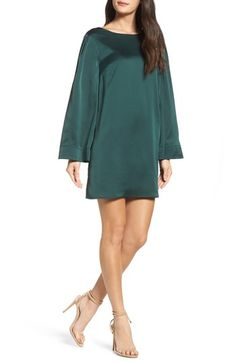 Free shipping and returns on Chelsea28 Ruffle Crossback Shift Dress at Nordstrom.com. Silky satin casts a romantic mood over this long-sleeve shift with a dramatically ruffled crossover back that adds fluttery movement to every step.
