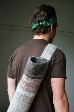 Yoga bag... maybe I'll shoot for yoga velcro-straps first?