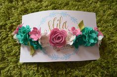 Corona de flor de longitud completa Fall15 por MilasTrendyBoutique