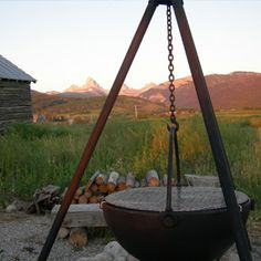 cowboy cauldron fire pit!  must have!!!