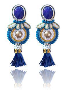 #Soutache #earrings, Soutache #jewerly, #handmade jewerly, #bijoux, #orecchini, #pendientes #fashion #design #madeinitaly - COCO EARRINGS