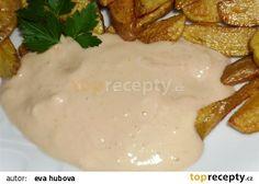 Česnekový dresink recept - TopRecepty.cz(majonéza,kečup,hořčice) Tzatziki, Mashed Potatoes, Bbq, Food And Drink, Cooking Recipes, Cheese, Snacks, Meals, Chicken
