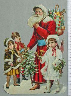 Jultomte-med-barn-stort by Cilla in Sweden, via Flickr