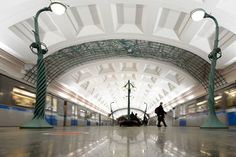 The most impressive underground railway stations in Europe - Telegraph - Slavyansky Bulvar metro station in Moscow  Picture: KIRILL KUDRYAVTSEV/AFP/Getty Images
