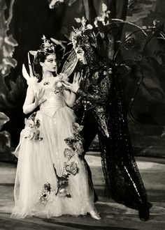 "divinevivienleigh: "" Vivien Leigh and Robert Helpmann as Titania and Oberon in A Midsummer Night's Dream, 1937 """