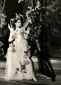 """divinevivienleigh: """" Vivien Leigh and Robert Helpmann as Titania and Oberon in A Midsummer Night's Dream, 1937 """""""