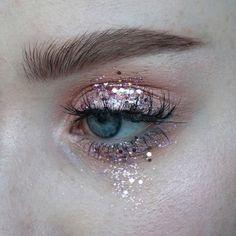 Image result for subtle glitter makeup