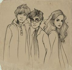 Golden Trio drawing (Harry Potter)
