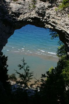 Arch Rock - Mackinac Island, Michigan. I met my husband on the Island, we spent countless summer nights gazing at the stars here.