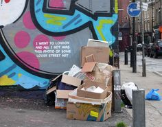 Banksy, I went to London and all I got was this photo of some lousy street art