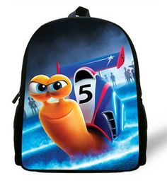 12-inch Mochila School Kids Backpack Turbo Bag Cartoon Design Age 1-6 Fast snail Children School Bags Boys Baby