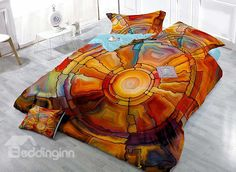 Novelty Abstract Pattern Satin Drill Technics 4-Piece Duvet Cover Sets on sale, Buy Retail Price Luxury 3D Bedding Sets at Beddinginn.com