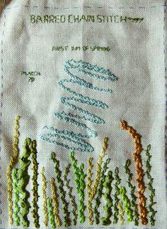barred chain stitch