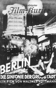 Film Kurier, Berlin Die Sinfonie Der Großstadt, 1927.