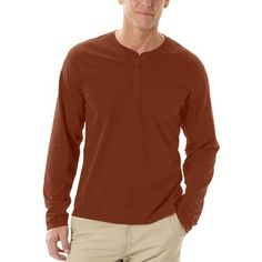 $27.25  Sierra Trading Post  Horny Toad Smooth Henley Shirt - Butterknit, Long Sleeve (For Men)