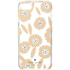 Kate Spade New York Jeweled Majorelle Phone Case for iPhone 7 (Pink... ($45) ❤ liked on Polyvore featuring accessories, tech accessories, phone cases and kate spade