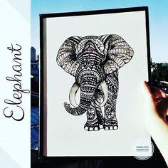 ELEFANTE HINDÚ Cuadro de madera pintado a mano Medidas 30×40 cm. Elefante Hindu, Home, Wood Pictures, Painted Wood, Crafts