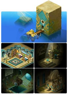 Quelques décors réalisés pour Sufokia – Flash