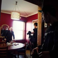 #Flashback this #WilliamShakespeareWednesday to Billy Smedley's episode as #Hamlet with this #behindthescenes shot from Sound Recordist, Tim McCormick's POV of Billy with Director of Photography, James Dene and if you look carefully, Director, Sally McLean on set.  #filming #filmmaker #filmmaking #independent #webseries #actor #acting #working #anactorslife #femaledirector #onset #melbourne #australia #shakespeare #shakespearerepublic #lovethebard More : www.shakespearerepublic.com ( Photo…