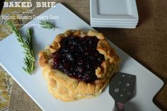 Baked Brie with Balsamic Rosemary Cranberry Sauce will be the perfect unique appetizer for any fall get-together. Serve with RITZ crackers for a slightly salty, slightly sweet, and totally delicious snack.