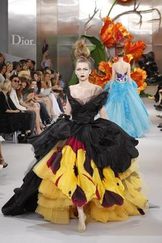 fashion: Fall/Winter 2010-2011 Haute Couture fashion show for French fashion house Dior in Paris