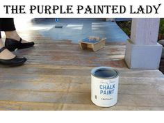 Using Chalk Paint® decorative paint by Annie Sloan outdoors on a porch | By stockist The Purple Painted Lady of Macedon, NY