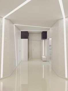 White Hallway Decor
