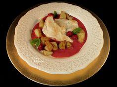 #Pechuga de #pollo con #salsa de #frambuesas - #Chicken breast with #raspberry #sauce