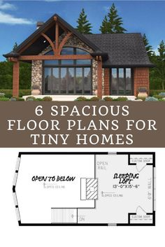 6 floor plans for tiny homes that feel surprisingly spacious - I'm partial to 4. What about you? Tiny Home Design | Tiny Home Inspiration | Tiny Home Floor Plans #tinyhome