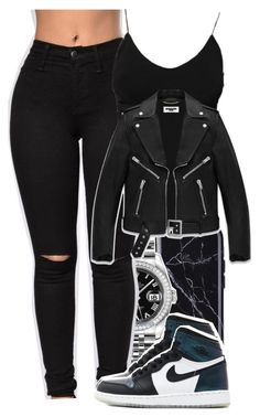 """""""Untitled #5808"""" by rihvnnas ❤ liked on Polyvore featuring Rolex and Yves Saint Laurent"""