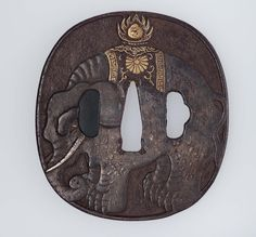 Tsuba with design of caparisoned elephant | Museum of Fine Arts, Boston. Japanese Edo period late 18th to mid-19th century Tsuchiya Yasuchika (Japanese, 1670–1744), School Nara School (Japanese)