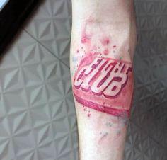 Fight Club Tattoo, Fight Club Soap, Tattoo Designs, Tattoo Ideas, Inner Forearm Tattoo, Movie Tattoos, Tyler Durden, Old Movie Posters, Tattoo Drawings