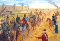"""The Muslim army bypasses Poitiers and marches towards Tours"", Graham Turner"