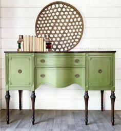 Green Painted Furniture, Refurbished Furniture, Colorful Furniture, Upcycled Furniture, Furniture Makeover, Vintage Furniture, Home Furniture, Redoing Furniture, How To Paint Furniture