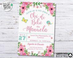 Baby Lulu, Baby Shower, Birthday, Frame, Tags, Invitation Ideas, Invitation Birthday, Invitations, Flowers