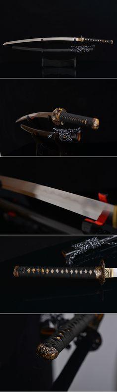full tang san mai laminated katana samurai sword hamon