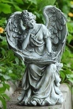 Angel In Thought Garden Statue