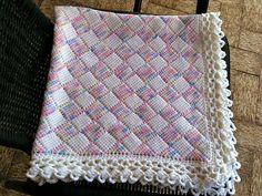 Ravelry: CathyCJ's Entrelac Baby Blanket