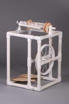 PVC tube spinning wheel. | Its Fun DIY