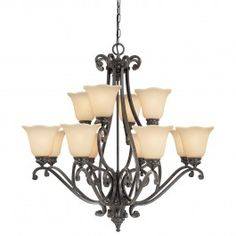 Thomas Lighting.  The Napa Collection Natural Slate Finish (Group 7).  2 Story Foyer (Per Plan).