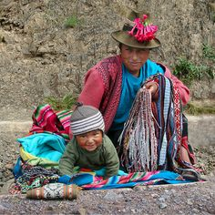 At Work with Mom in the Sacred Valley - Peru
