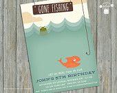 Gone Fishing Birthday Party Invitation