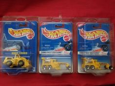 (2}Hot Wheels Hotwheels 1996 First Edition Street Cleaver  #4/12 ++ Wheel Loader #HotWheels