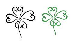 Four Leaf Clover Art Design, Four Leaf Clover Tattoos Four Leaf Tattoos, Four Leaf Clover Tattoo, Clover Tattoos, Side Tattoos, Body Art Tattoos, New Tattoos, Cool Tattoos, Tatoos, Irish Tattoos