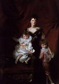 John Singer Sargent - Mrs. Cazalet and her children