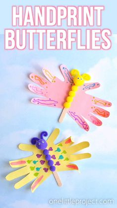 Easy Handprint Butterfly Craft | Beautiful and Colourful Crafts for Kids.