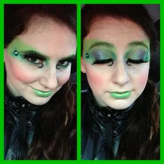 Witch makeup for Halloween