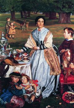 William Holman Hunt. The сhildren's holiday
