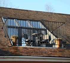 Velux Roof Terrace Via Atticlife Co Uk Attic Loft, Loft Room, Bedroom Loft, Bedroom Balcony, Attic House, Attic Ladder, Attic Office, Bedroom Small, Trendy Bedroom