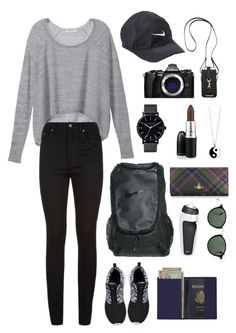 """""""get away"""" by bungayaj on Polyvore featuring Victoria's Secret, Yves Saint Laurent, NIKE, The Horse, Accessorize, Olympus, Royce Leather, MAC Cosmetics, Rebecca Minkoff and Ray-Ban"""